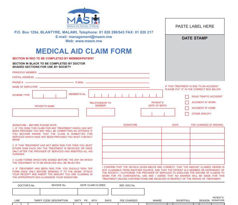 Medical Aid Claim Form